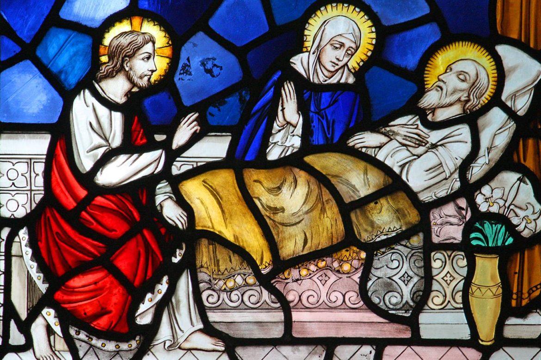Resultado de imagen para ¿Cómo murió San José?