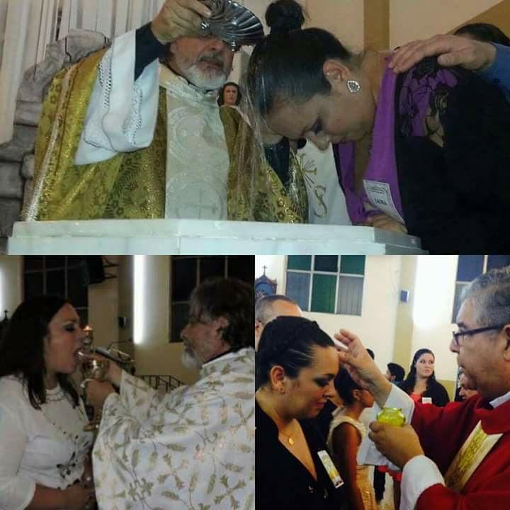 Bautizo y sacramentos católicos de iniciación de Laura en 2015