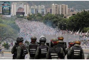 Protestas masivas en Venezuela