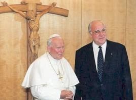 San Juan Pablo II y Helmut Kohl