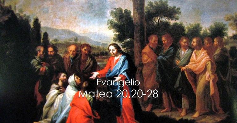 Evangelio Mateo 20,20-28