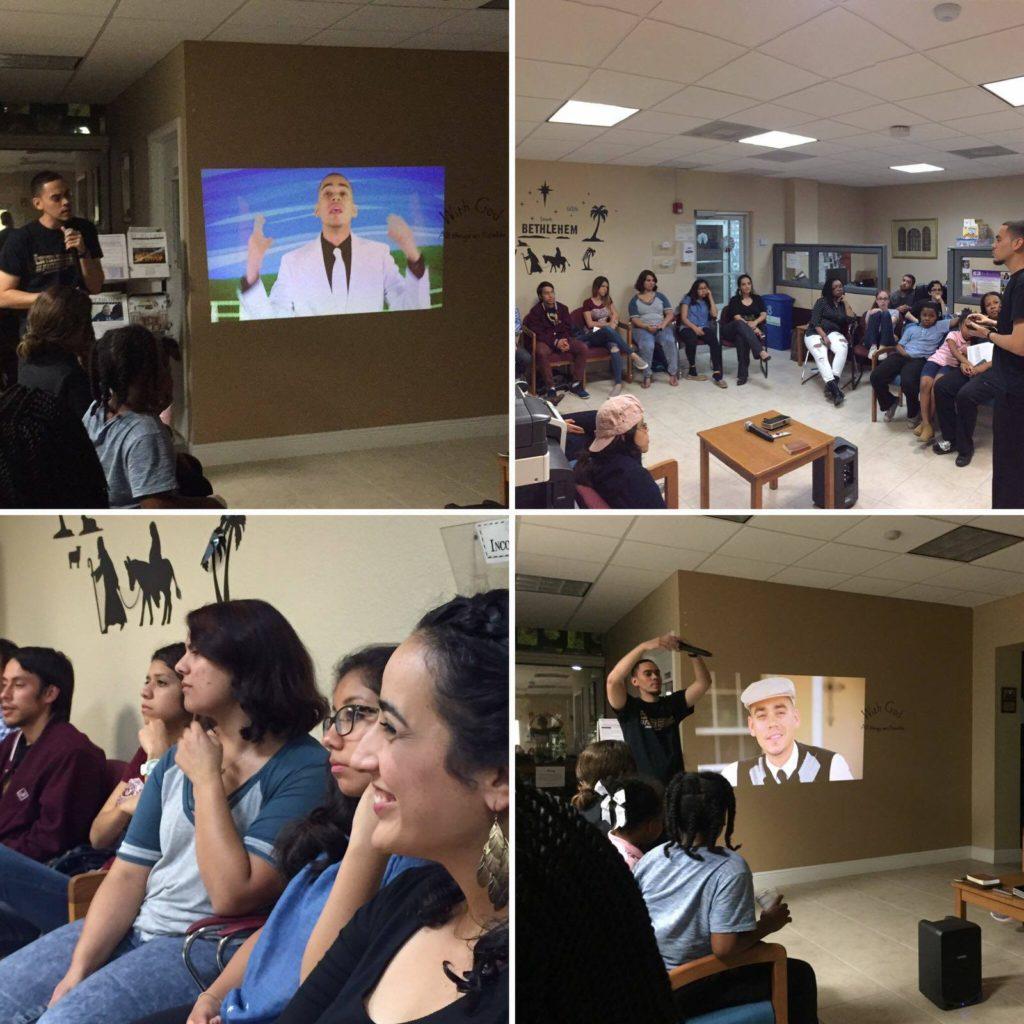 """Álvaro Vega """"Communion"""" en un evento en St. Thomas University en Miami"""