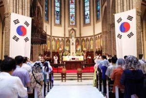 misa por la paz corea del sur