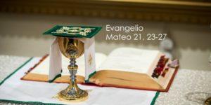 Mateo 21, 23-27