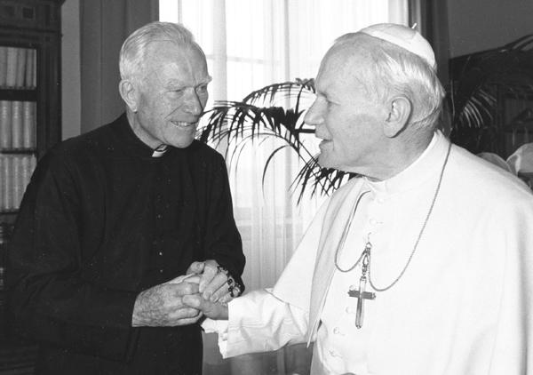 Padre Patrick Peyton y San Juan Pablo II