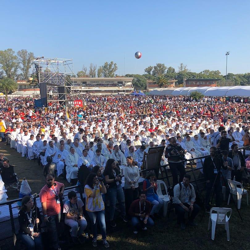 Asistentes al II Encuentro Nacional de la Juventud en Rosario, Argentina