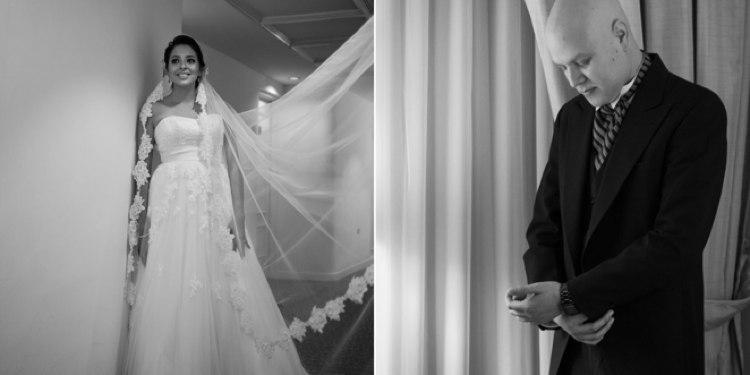 José R. Arévalo y su esposa el día de su boda